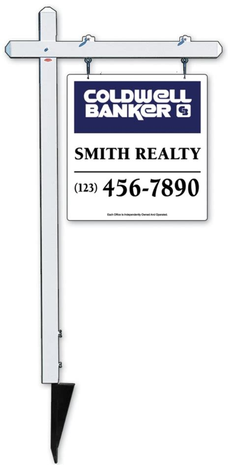 Coldwell Banker Real Estate Aluminum Sign Post And Hanging