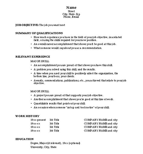 resume format resume sles qualification highlights