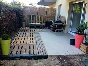 Terrasse Avec Palette : terrasse de jardin en palette nos conseils ~ Melissatoandfro.com Idées de Décoration