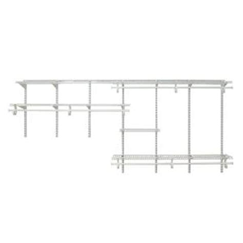 Closetmaid Parts List - closetmaid shelftrack 7 ft 10 ft white wire closet