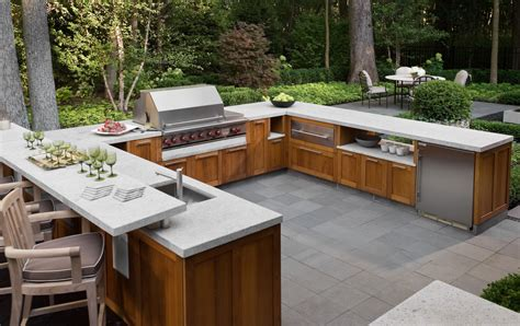 outdoor bbq kitchen designs welcoming bbq season backyard granite countertop 3817