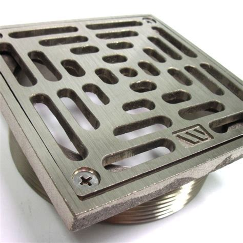 4? Nickel Bronze Square Floor Drain Strainer ? BC Site Service