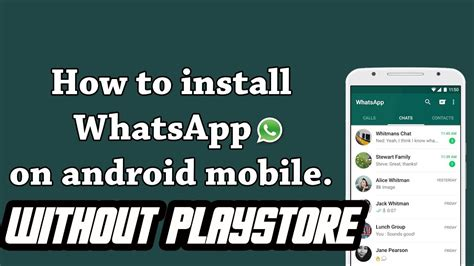 how to whatsapp without playstore android youtube