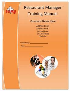 Restaurant Manager Training Manual Template - Guide