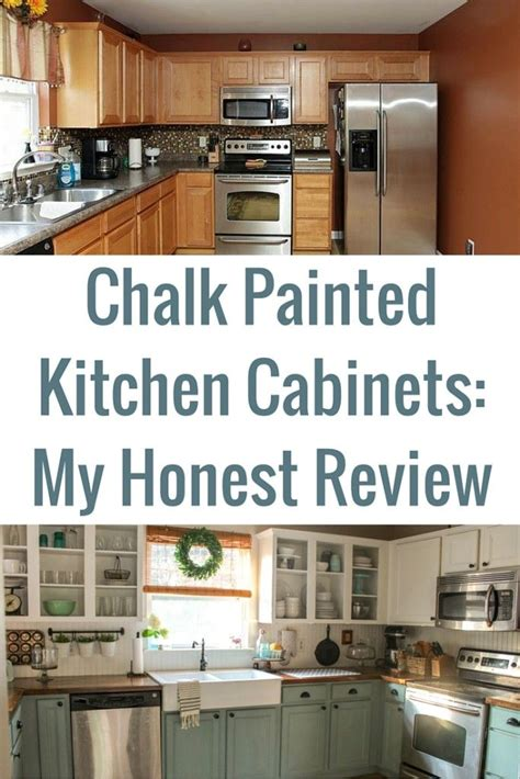 chalk painted kitchen cabinets  years  chalk
