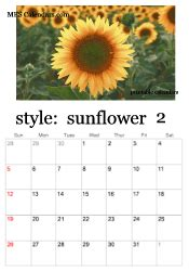 printable sunflower calendars personalized calendar maker