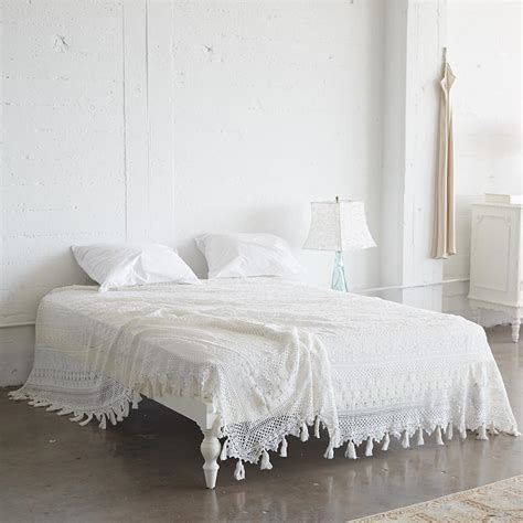 Lace Coverlet Bedding by White Cluny Lace Bedding Collection At Ashwell