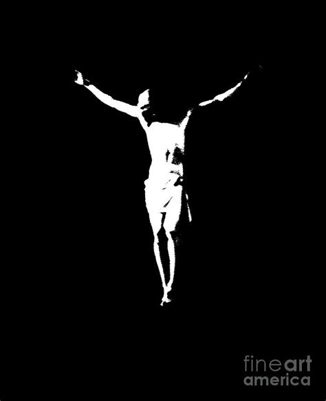 Abstract Jesus Black And White by In Black And White Painting By J Jaiam