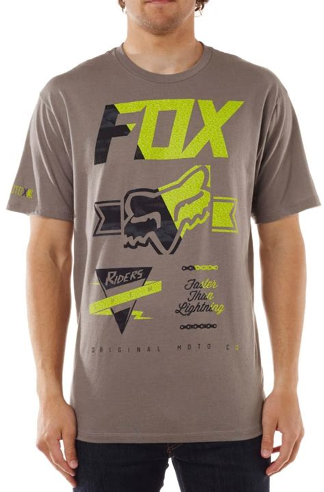 fox motocross t shirts fox racing mens crinkle motocross short sleeve t shirt ebay
