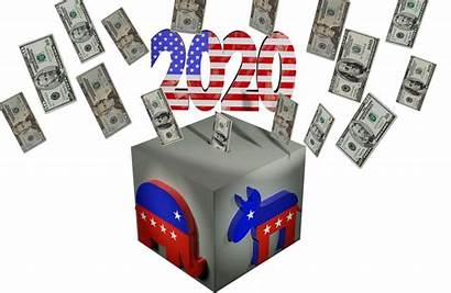 Ballot Election Usa Flying Transparent Corruption Fundraising