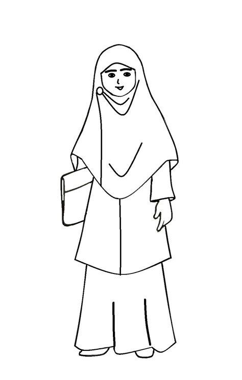 Wanita muslimah memakai kimono jepang. 34++ Sketsa Gambar Kartun Wanita Muslimah - Gambar Kartun