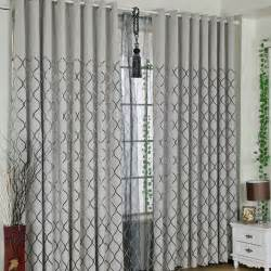 Blackout Thermal Curtain Lining by Modern Style Grey Chenille Fabric Black Lines Pattern Cool