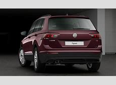 Volkswagen Tiguan in Crimson Red officially introduced in
