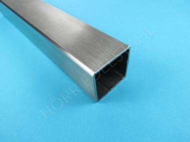 edelstahl 4 kant rohr vierkant rohr 80x80 x 2mm geschliffen quadratrohr v2a
