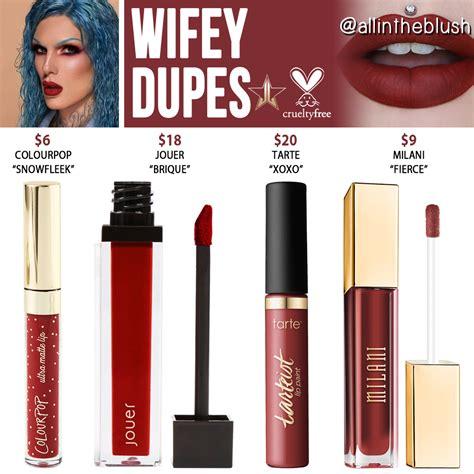 jeffree star wifey velour liquid lipstick dupes