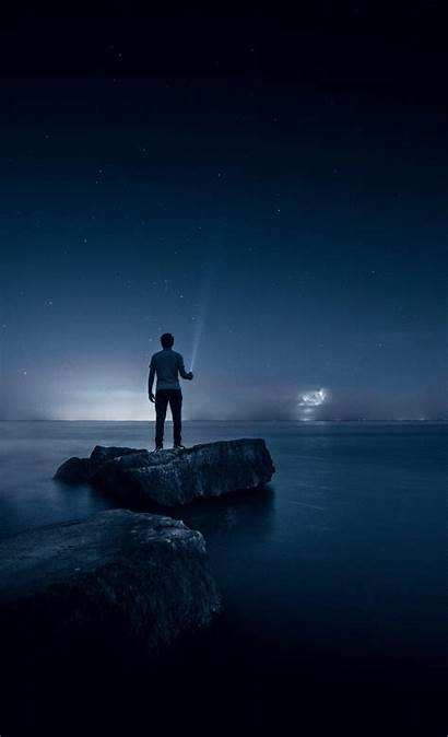 Night Lonely Wallpapers Alone Standing 1080p Rock