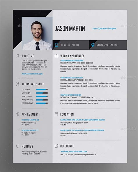 Free Photoshop Resume Templates by 41 Resume Templates Exles Professional Modern