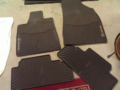 lexus 2010 rx 350 floor mats wa fs 2010 2011 brown all weather mats cargo mat club