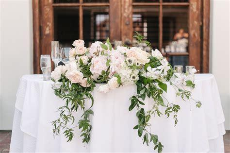 Romantic Pastel Santa Barbara Wedding Head Table Wedding