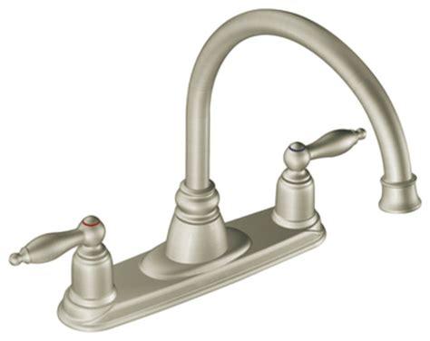 moen stainless steel kitchen faucet moen 7902sl castleby series high arc two handle kitchen