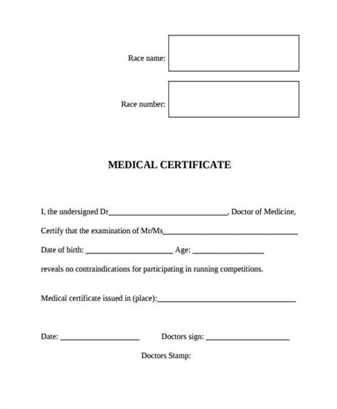 doctor certificates template proposal letter