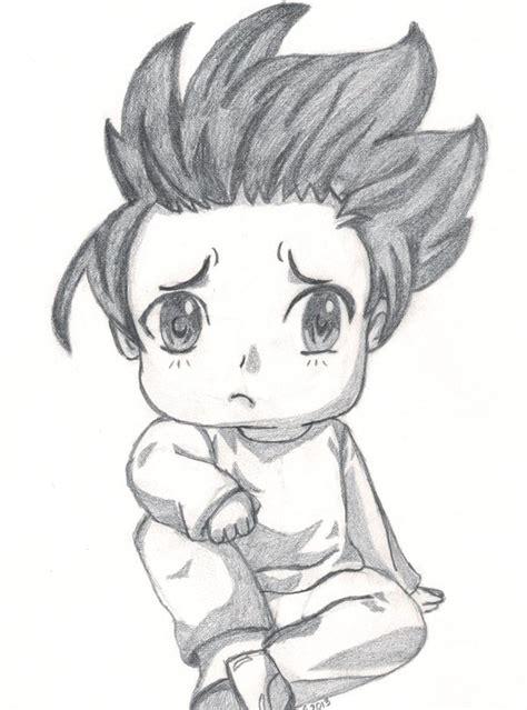 sadness boy drawing  town