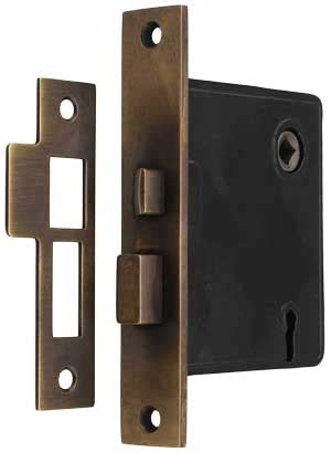 reproduction mortise lock solid brass faceplate antique hand backset house