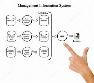 Diagramma Del Sistema Informativo Di Gestione  U2014 Foto Stock