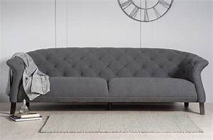 Chesterfield Sofa Modern : crispin 4 seater modern chesterfield sofa grey modern chesterfield ~ Indierocktalk.com Haus und Dekorationen