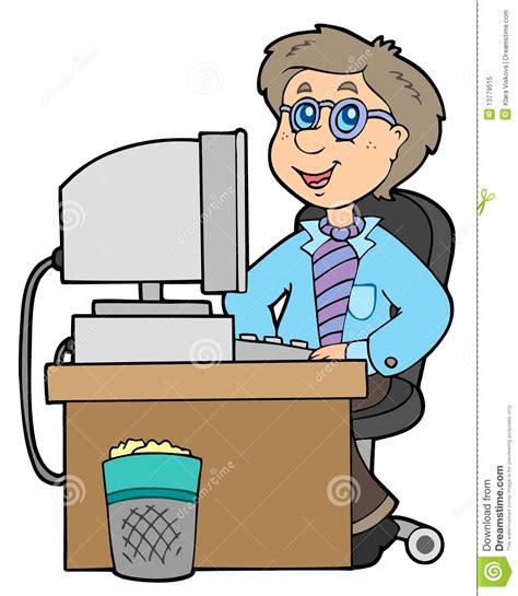 employe de bureau employé de bureau de dessin animé photo libre de droits