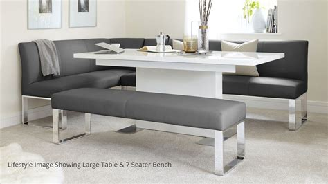 corner bench dining table set 5 seater right hand corner bench and extending dining table