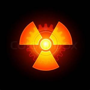 Red Glowing Radioactivity Sign | Stock Photo | Colourbox