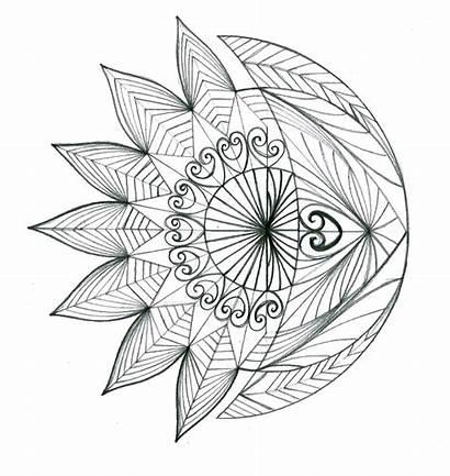 Moon Crescent Sun Tattoo Drawing Flower Thehoundofulster