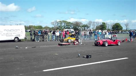 Westfield vs Class 10 Autograss Car with two bike engines ...