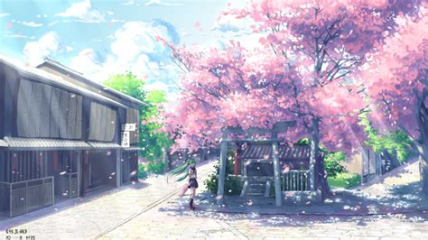 Anime Cherry Blossom Wallpaper - anime hatsune miku vocaloid cherry blossom wallpapers