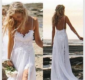 perfect boho beach wedding dress a line spaghetti straps With perfect beach wedding dress