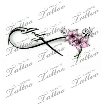infinity love tattoo flower  createmytattoocom