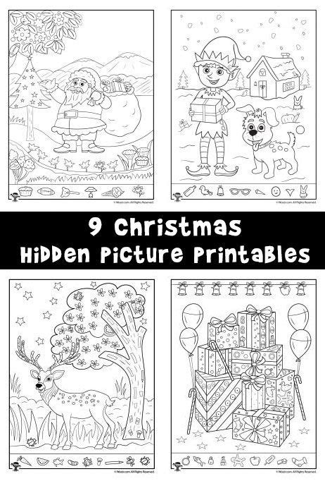 9 christmas and winter themed hidden picture printable