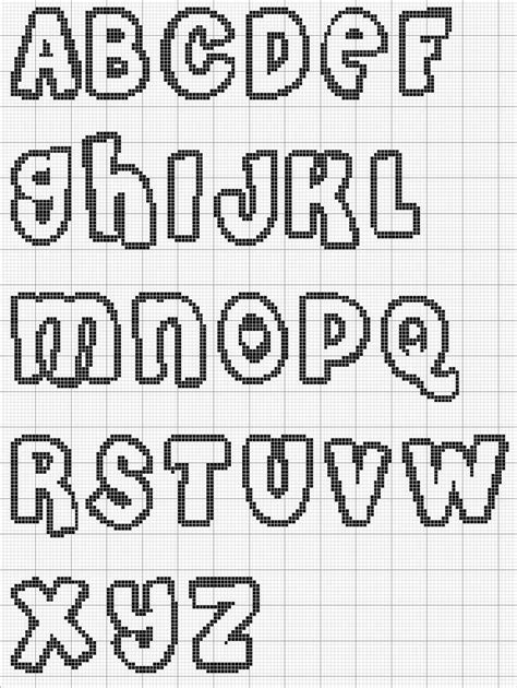 cross stitch alphabet pattern bubble letters needle thread pinterest stitches charts