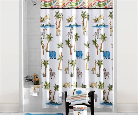 Cute Waterproof Polyester Fabric Shower Curtain For Kids