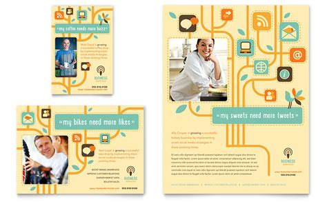 business services flyer ad template design