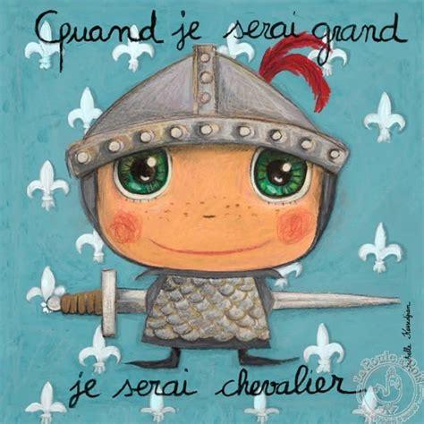 tableau chevalier quand je serai grand deco enfant