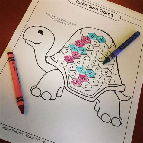 Check Out Our New Addition Sum Games!  Math  Super Teacher Worksheets  Pinterest Turtles