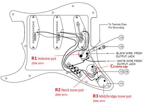 Standard Strat Wiring Diagram by Fender Stratocaster Explained And Setup Guide Fenderguru