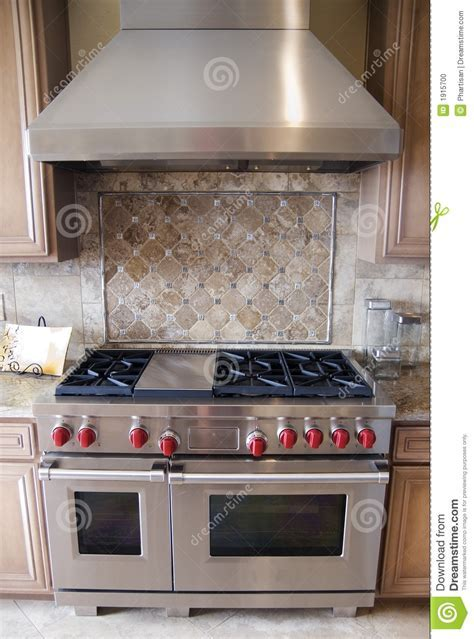 Luxury Kitchen Oven Ranfe stock photo. Image of design
