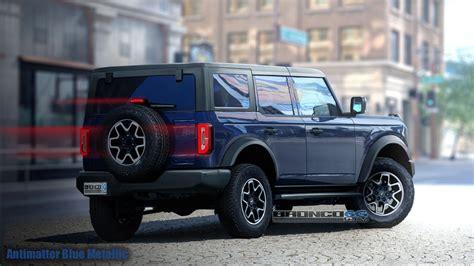 ford bronco rendered  grabber blue  production