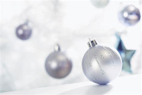 silver christmas ornaments christmas photo 22229595