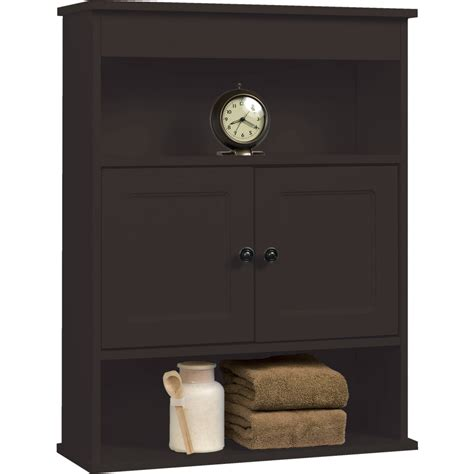 bathroom wall cabinet with shelf chapter bathroom wall cabinet storage shelf espresso ebay