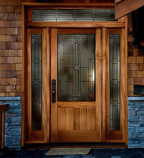 wooden front door solid wood exterior door