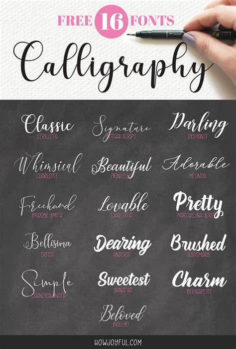 Calligraphy Font by Top 16 Free Calligraphy Fonts Lettering